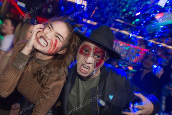 Holloween costume party night