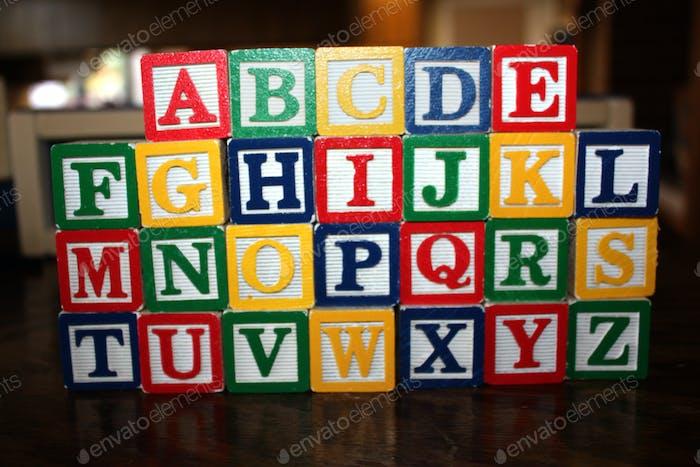 Bloques de Juguetes Infantiles - Alfabeto