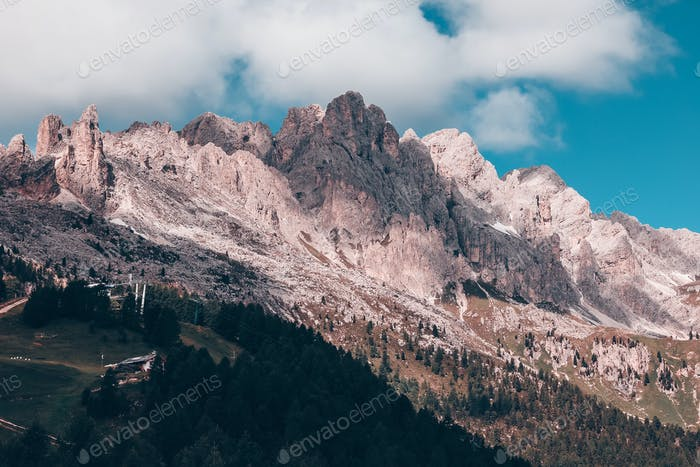 Beautiful natural background in Dolomites