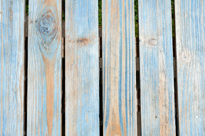 Simple minimal plain painted blue distressed wood plank background