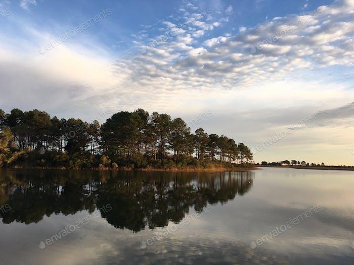 Clean crisp morning reflections