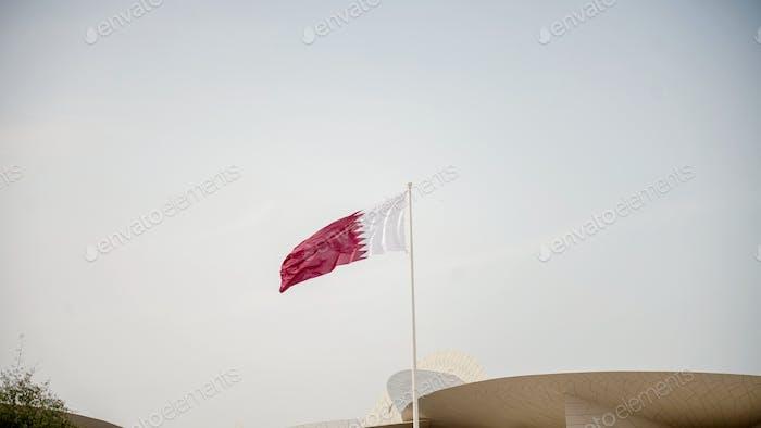 Qatari flag. Flag of Qatar. National Flag. Doha. Independence Day. National Day. Patriotic. Patriot
