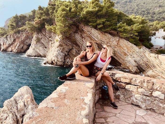 With my best friend Verena in Montenegro