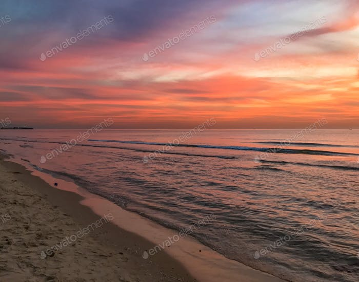 Beach landscape at sunset NOMINATED