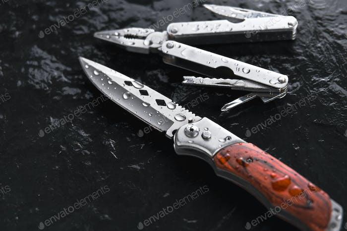 Faltbares Messer und faltbare Piler