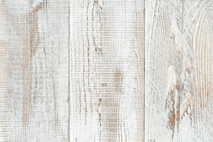 Simple minimal plain painted white distressed wood plank background. neutral natural tones
