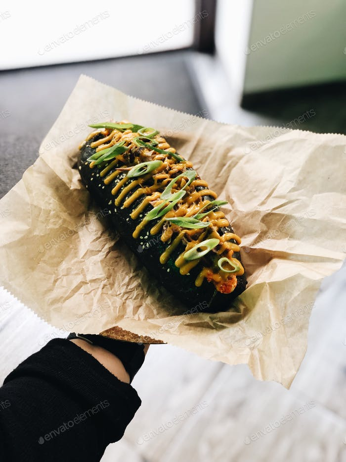 Fancy hotdog