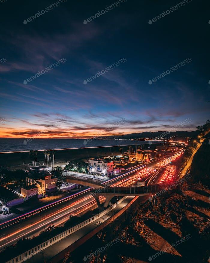 Long Exposure shot of PCH in Santa Monica.