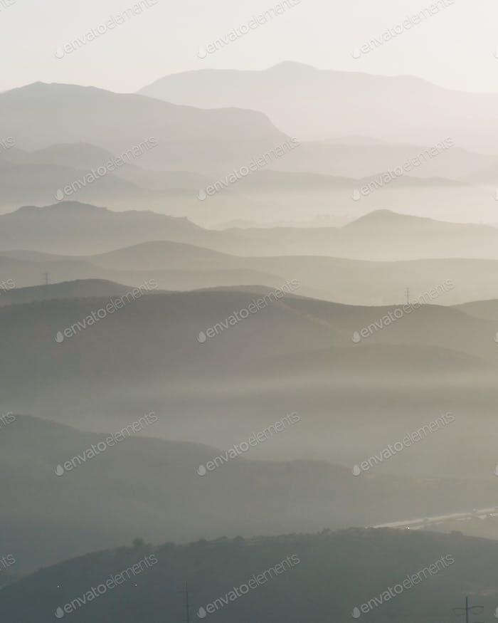 Hazy hills