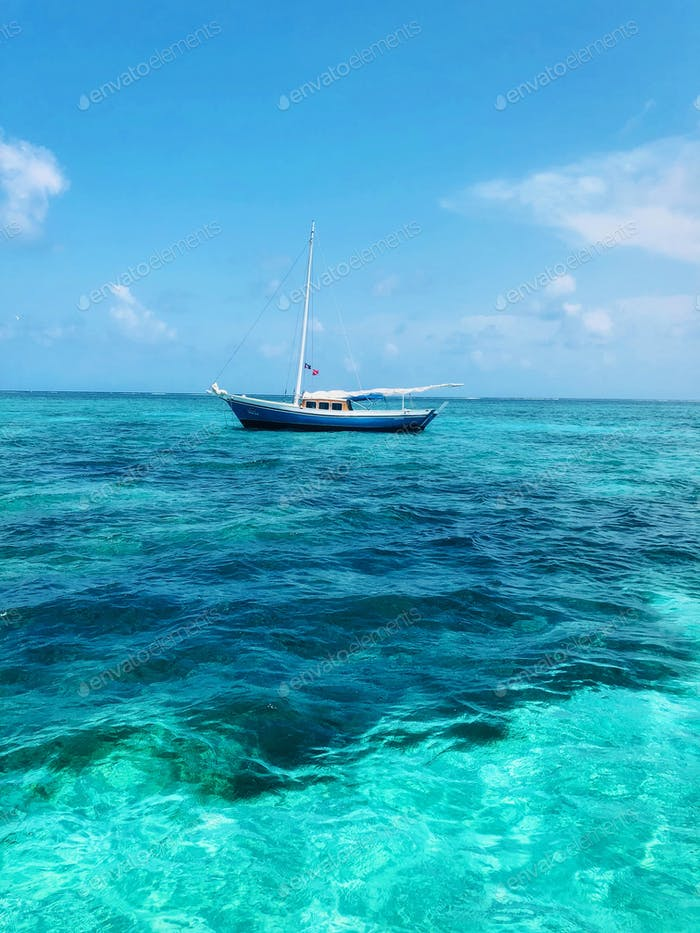 Boat on the Caribbean