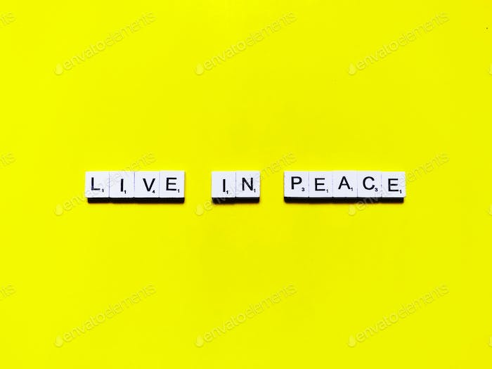 Live in peace. Quote. Quotes. Peaceful. Inner peace. World peace.