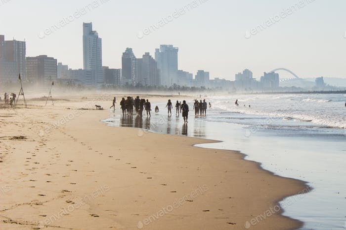People at the beach, Durban, South Africa