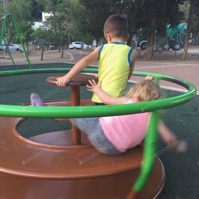 Playground. Blurry