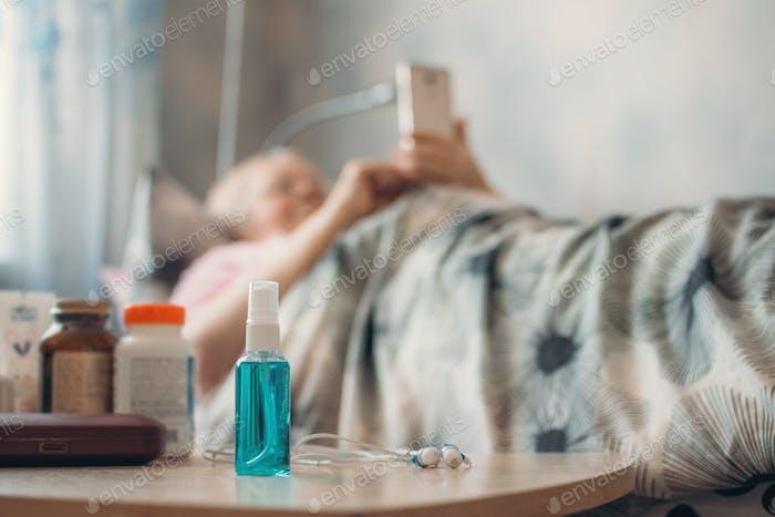 Coronavirus Selbsterisolation Beratung für Älteste über 70er Jahre