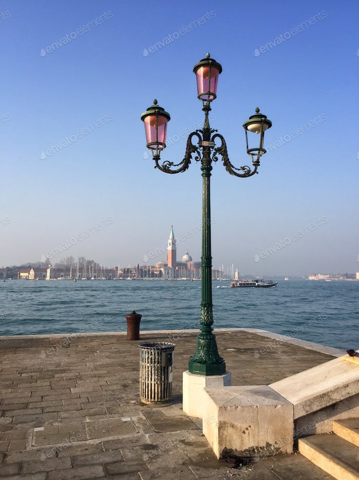 Venice classic view of the gulf and lampshade