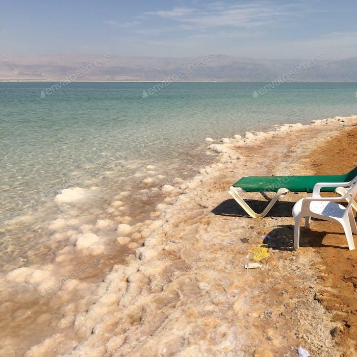 Dead Sea. Salt