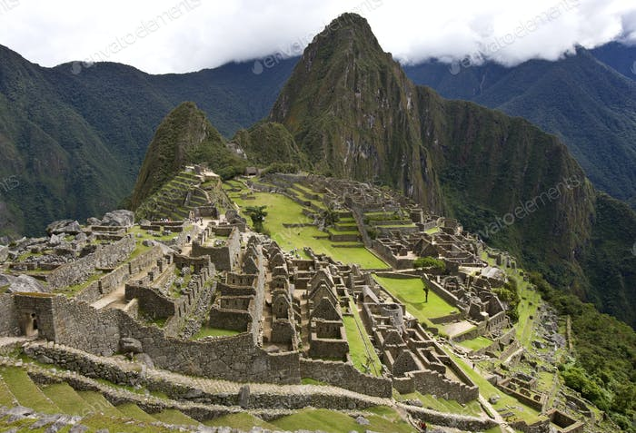 Machu Picchu - a fortified Inca town in the Andes in Peru, which the invading Spaniards never found