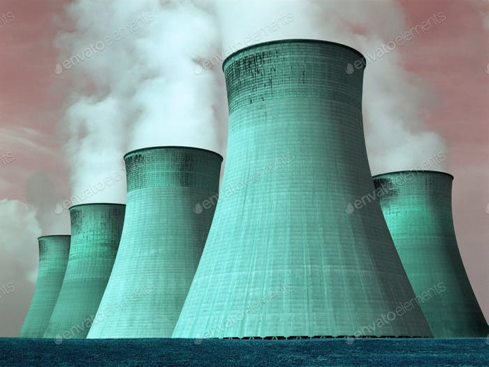 Cooling Towers of a power station in the United Kingdom.