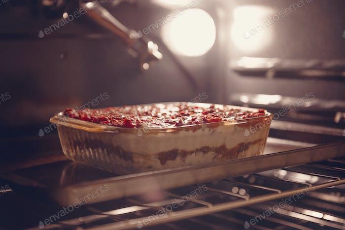 Lasagna, a Christmas staple.