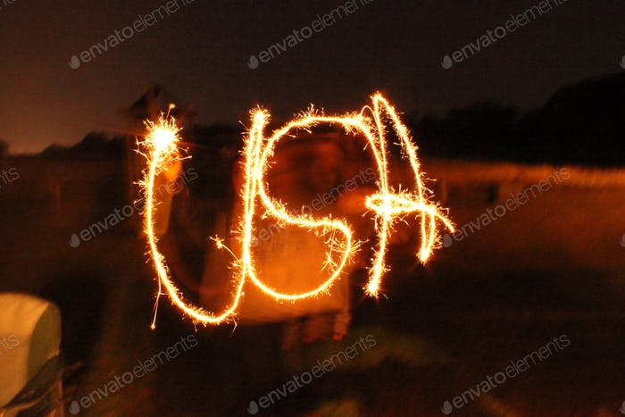 Sparklers on the 4th