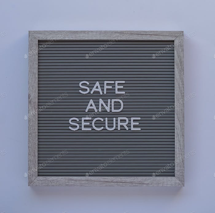 Safe and secure on a message board
