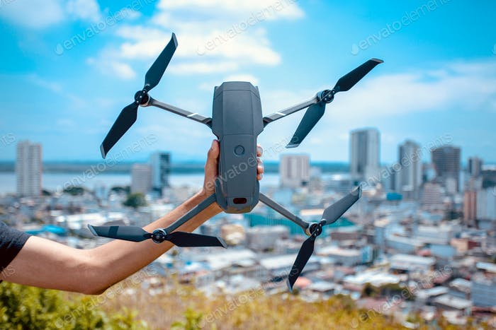 Holding drone
