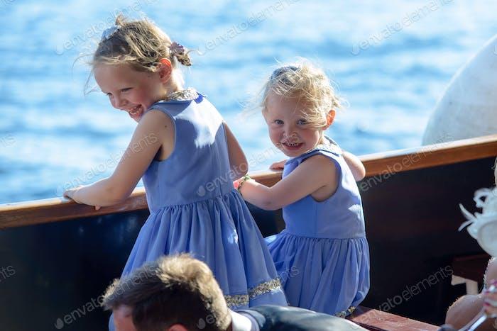 On a boat in Croatia