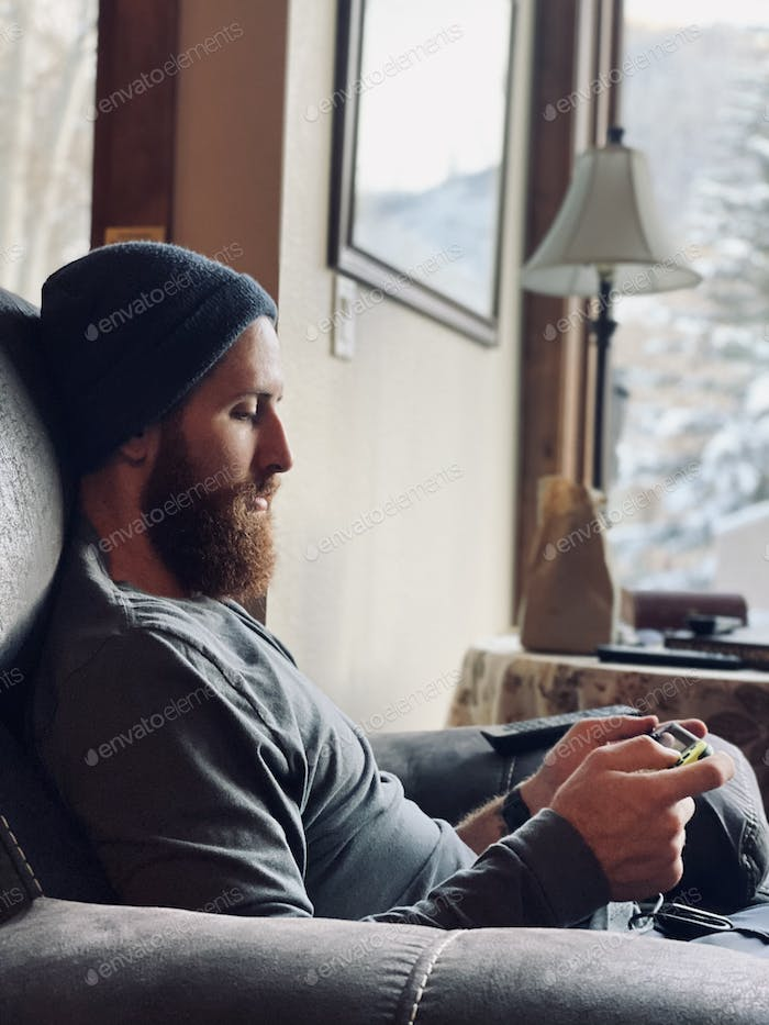 Indoor gaming while freezing outside