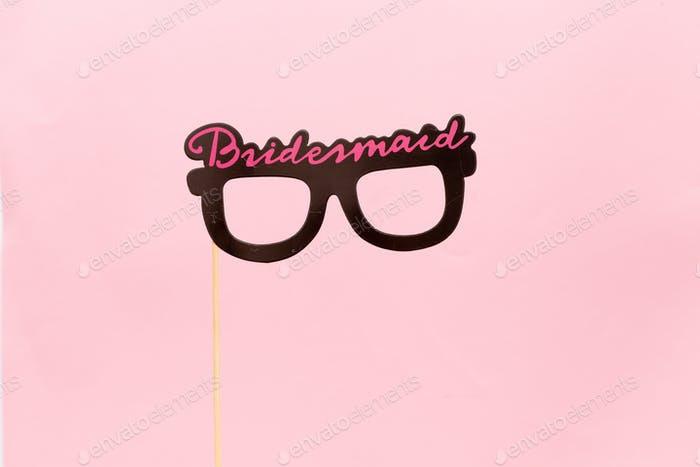 Bridesmaid glasses photo booth prop