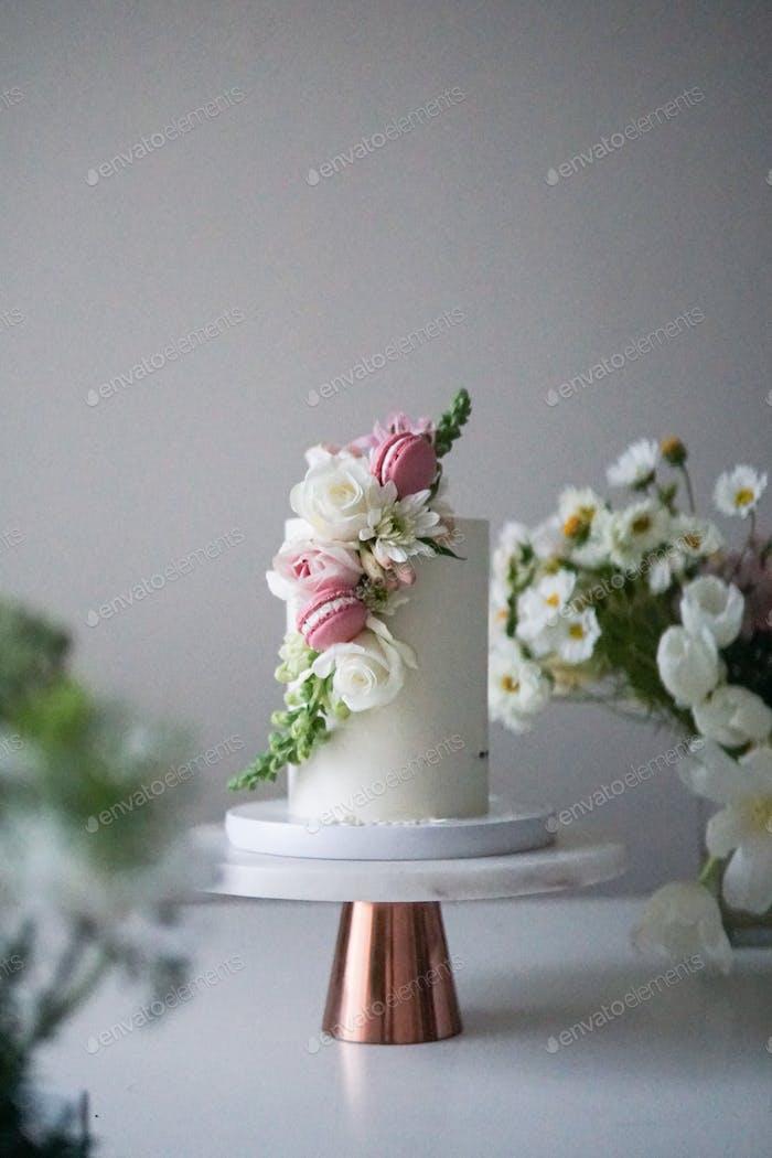 Floral Bridal Cake