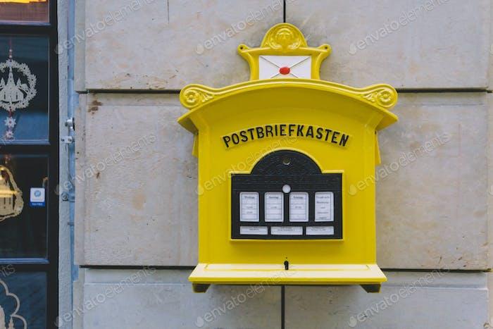 Traditional post box in Wien