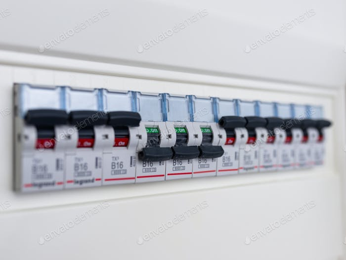 Switches in electrical fuse box