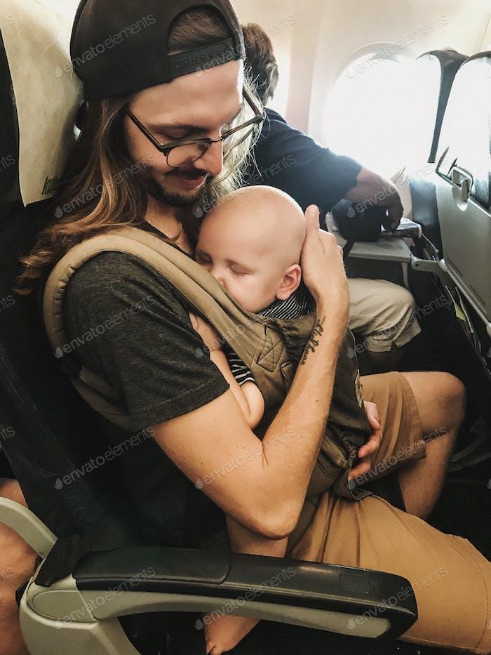 Baby sleeping in carrier