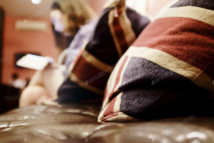 Union jack pillow, relax background