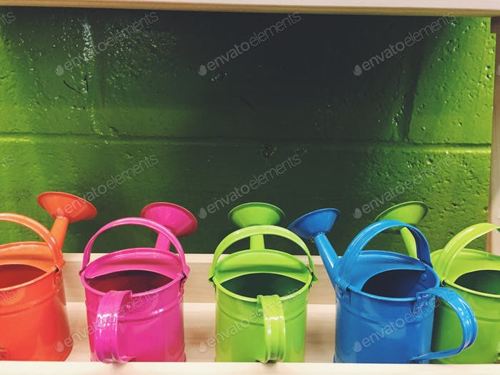 Gardening #bright and bold water cans