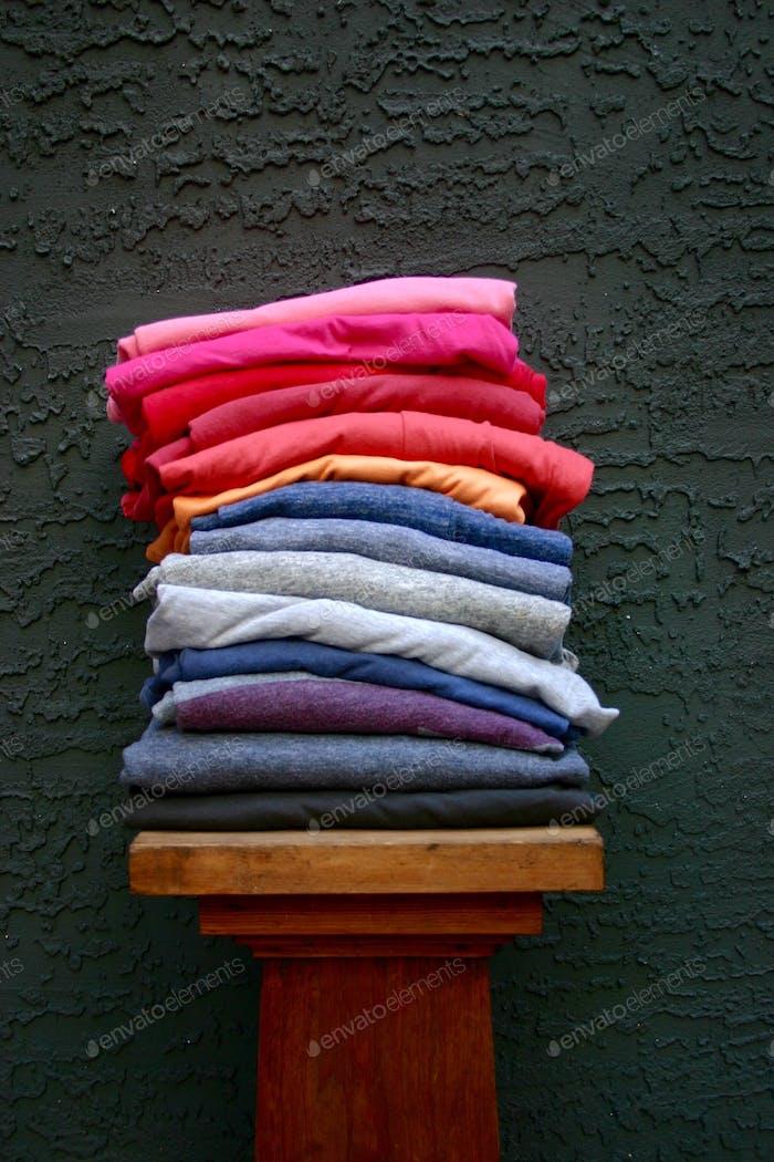 Faltet Wäsche