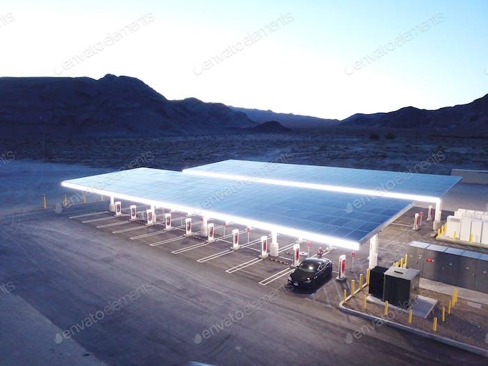 Baker 40 stall Tesla Superchargers