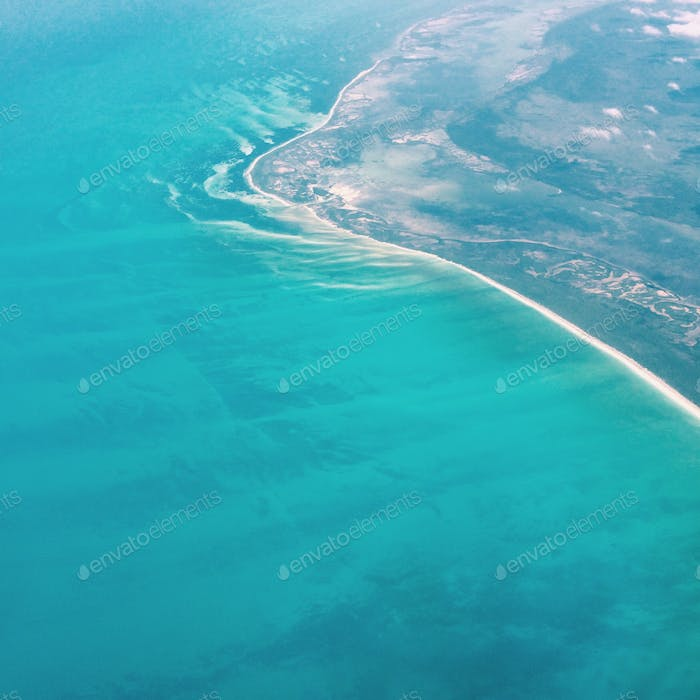 Aerial view of Cancun coast!