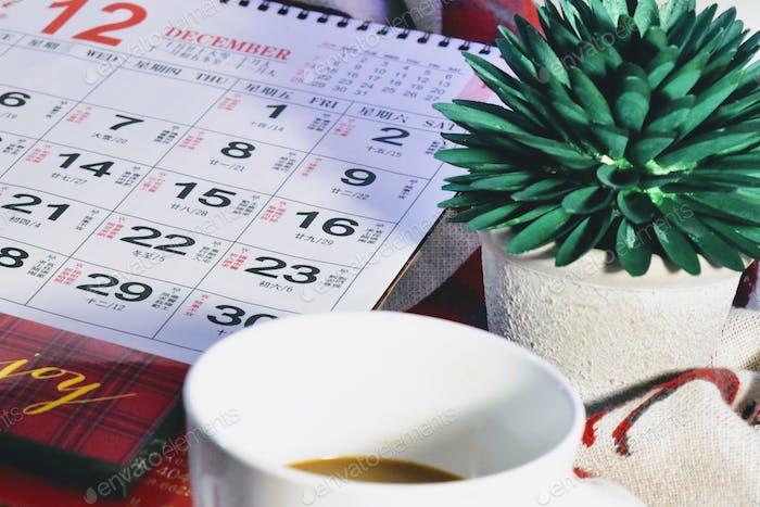 Kalender lag flach