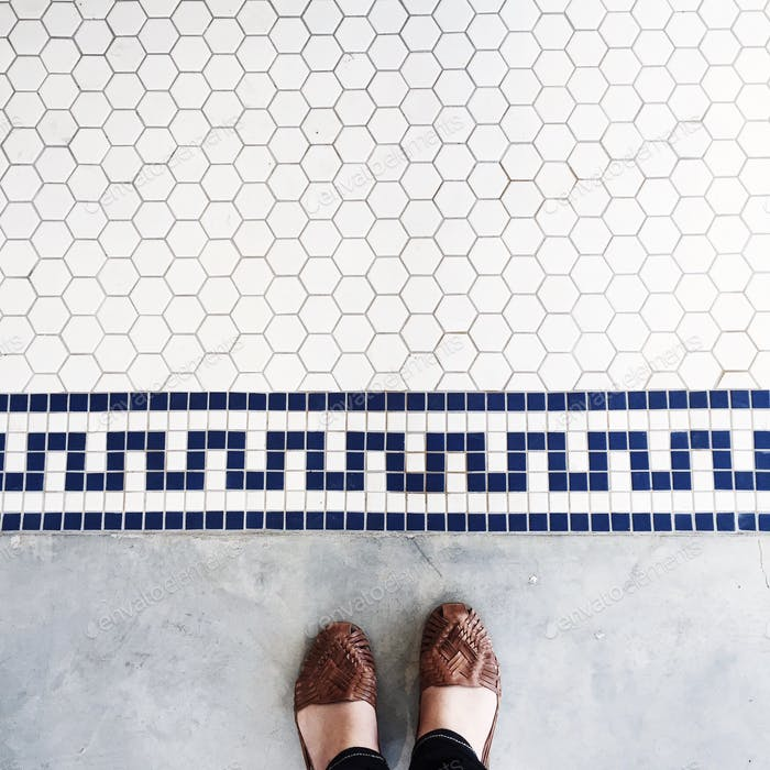 Feet and tiles