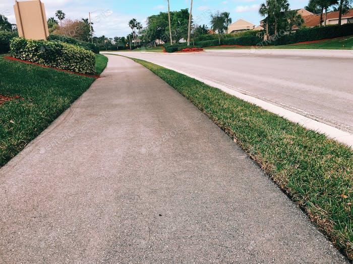 Sidewalk And Street