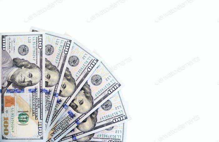 banknotes of hundred dollar bills