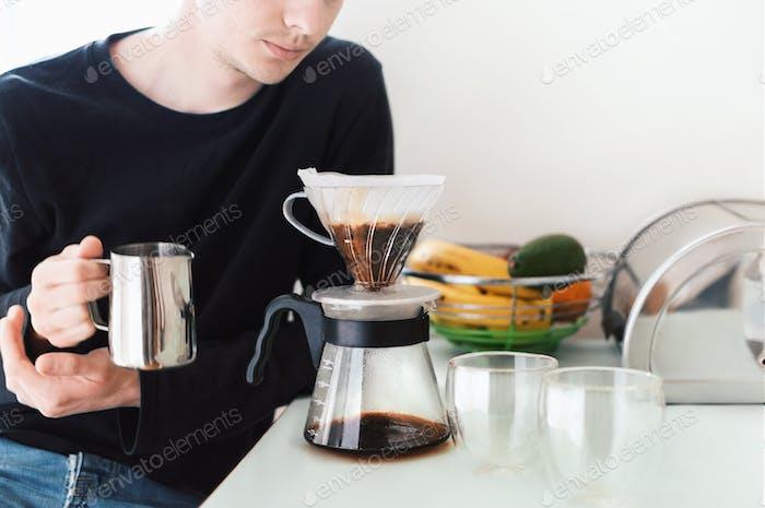 Drip breawing coffee