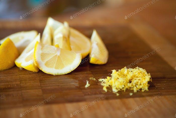 lemons and lemon zest