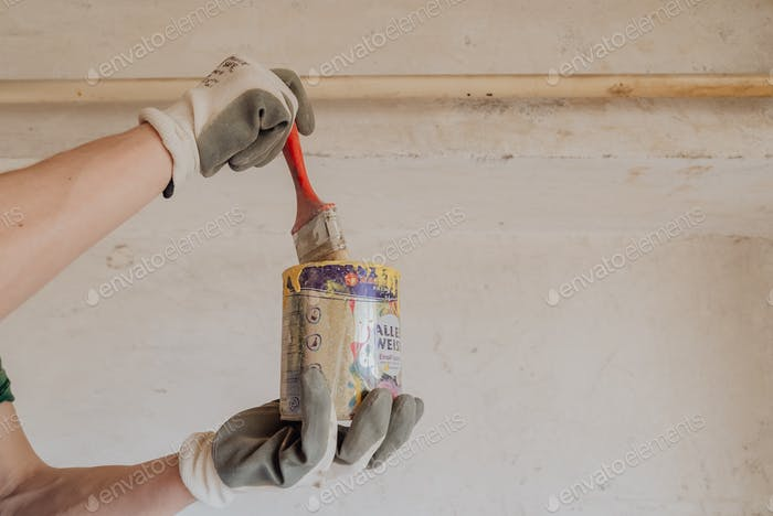 Painting gas pipe from apartment interior