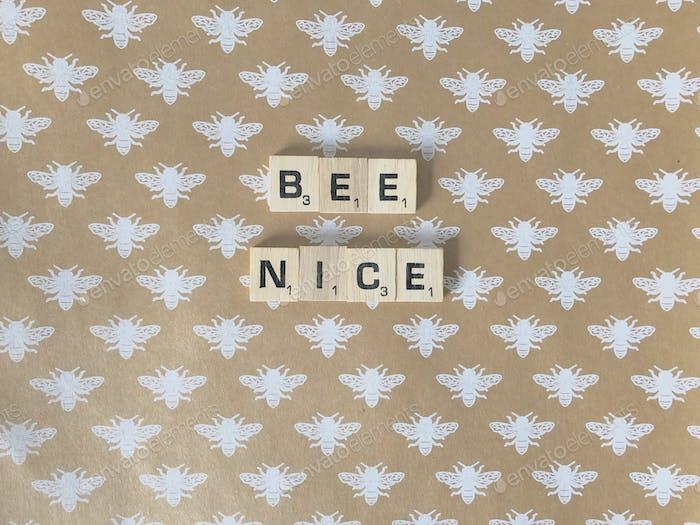 Bee nice. Kindness. Motivation.