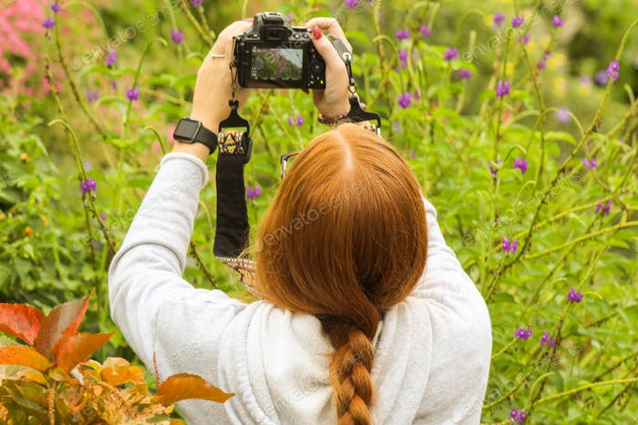 Photographer taking pictures in garden. 🌺NOMINATED by beachbumledford 🌺 NOMINATED by AAS🌺
