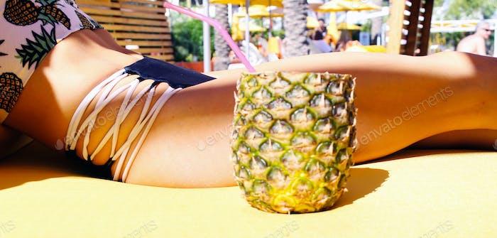 Pineapple piña colada at The Saguaro Scottsdale 🍍