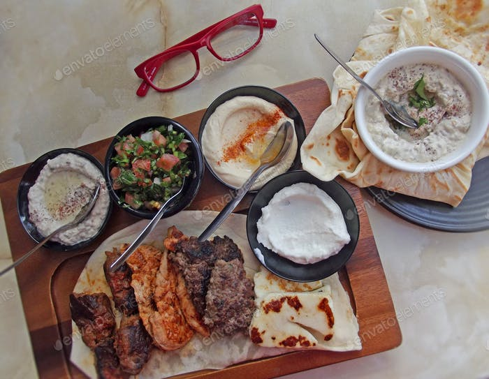 Libanesische Lebensmittelplatte