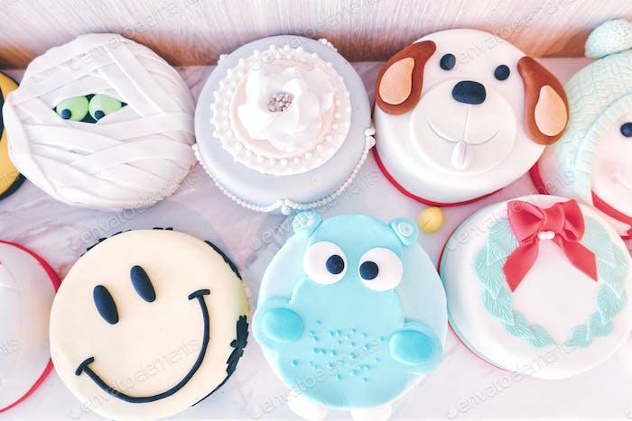 Cute cartoon cakes